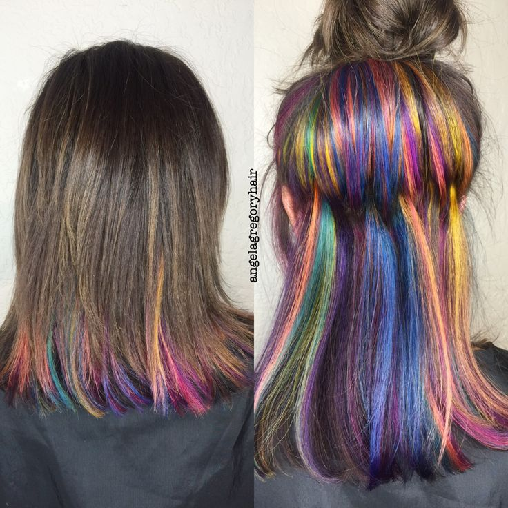 under color hair  2019 trends